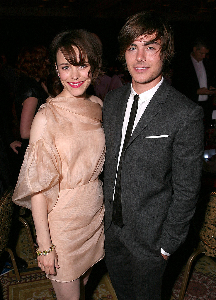 Rachel smiled next to Zac Efron at a party in 2009.