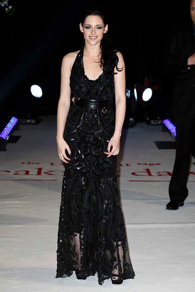 The actress went ultra-glam in Roberto Cavalli for the London premiere of Breaking Dawn.