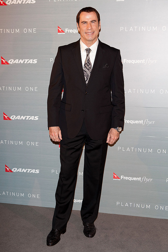 John Travolta attends an event celebrating Qantas' 91st birthday and the launch of Platinum One in Sydney on Nov. 16.