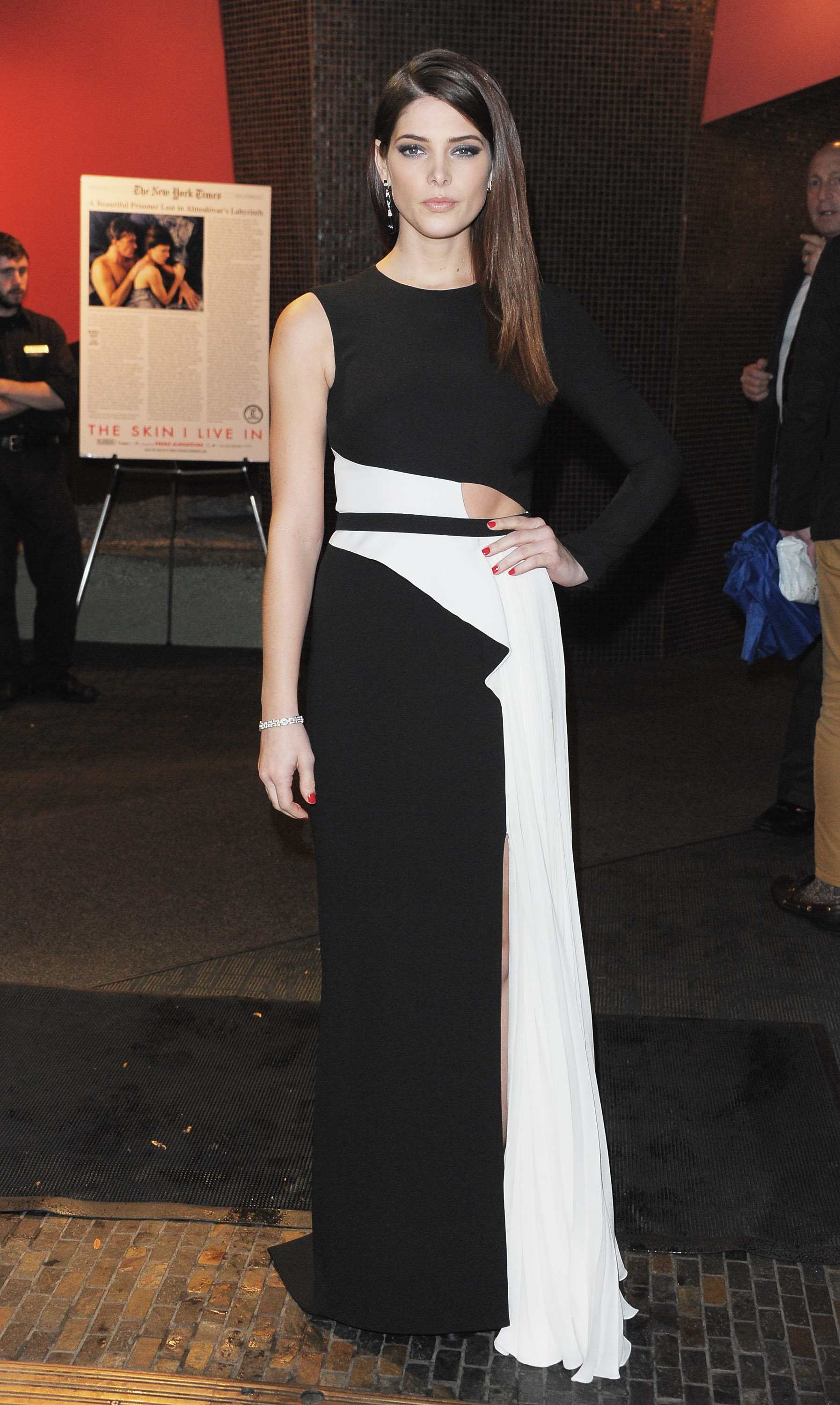 Ashley Greene arrived at the Breaking Dawn screening in NYC.