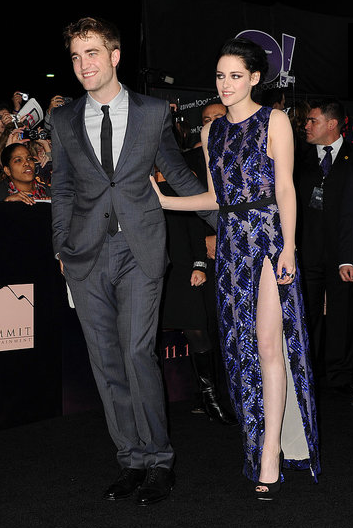 Robert Pattinson and Kristen Stewart couldn't contain their affection at the LA premiere of Breaking Dawn Part 1 in 2011.