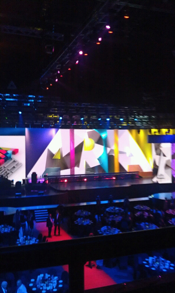 The main stage at Allphones Arena. Twitter User: sanityonline