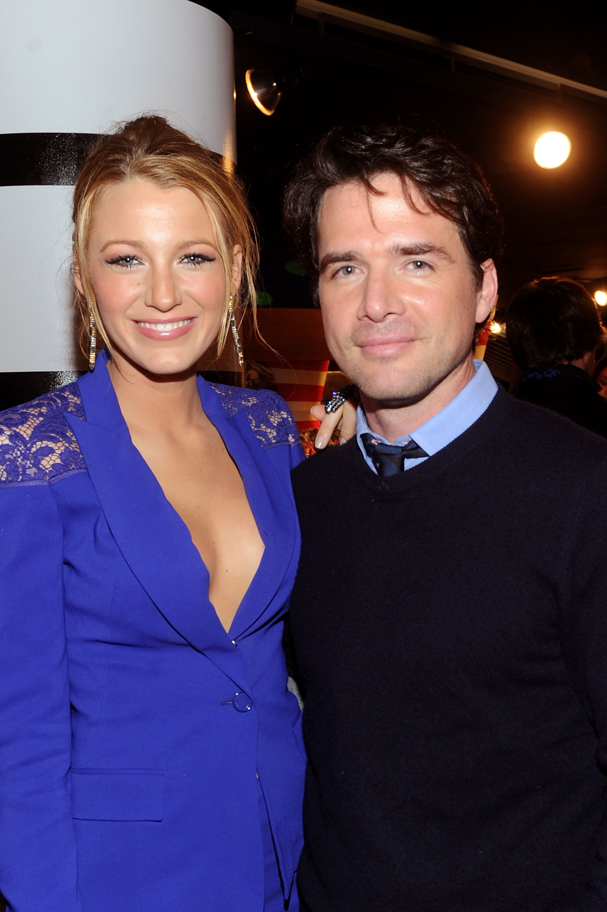 Blake Lively and Matthew Settle attended the opening of Lady Gaga's Workshop at Barneys.
