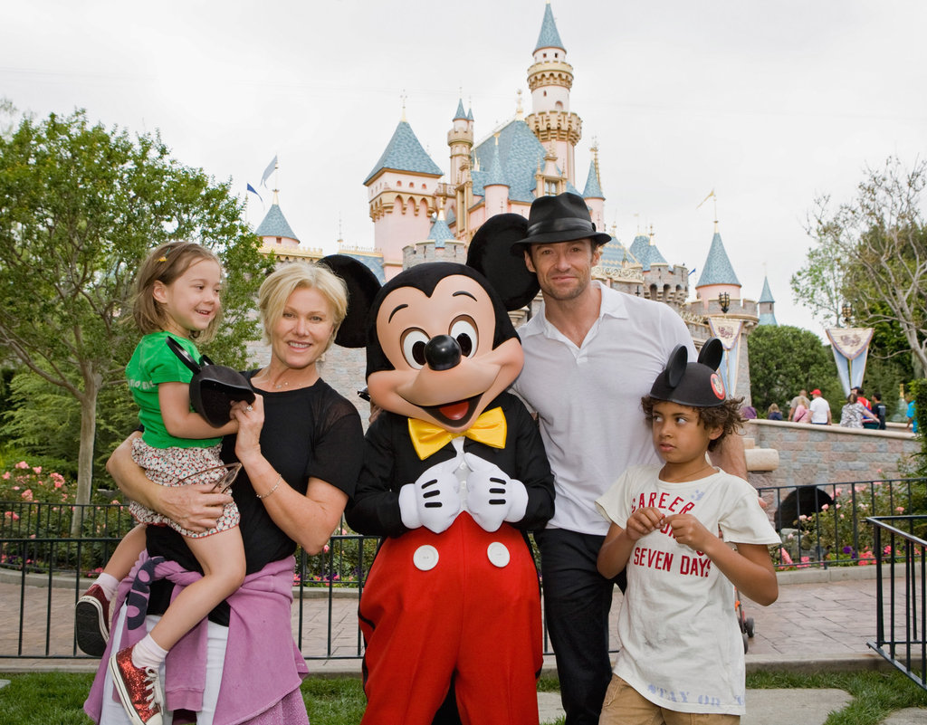 Hugh Jackman and his family took an April 2009 trip to Disneyland in Anaheim.