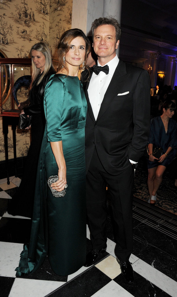 Colin Firth and Livia Giuggioli looked fantastic upon their arrival at the reception.