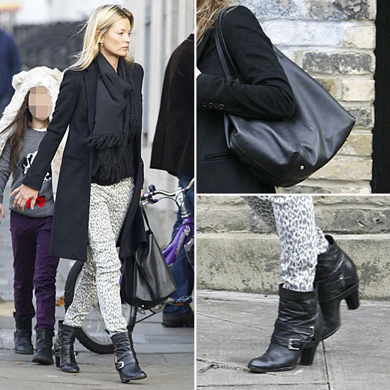 Kate Moss Leopard-Print Jeans November 2011
