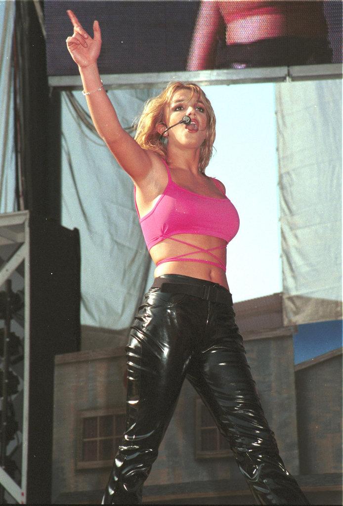 Britney heated up the 1999 Wango Tango concert in LA.