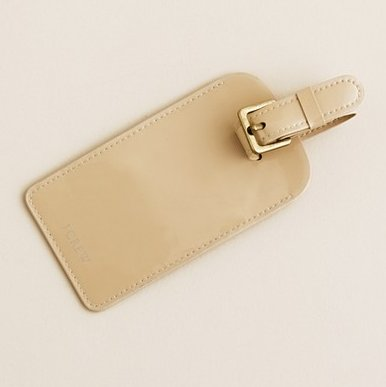 J.Crew Patent Luggage Tag