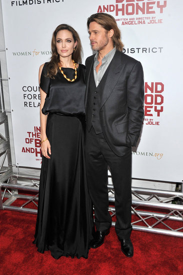Brad Pitt and Angelina Jolie posed on the red carpet prior to the screening.