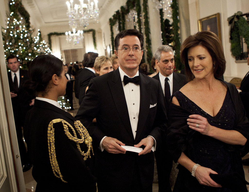 Stephen Colbert attended an event with Evelyn McGee in DC.