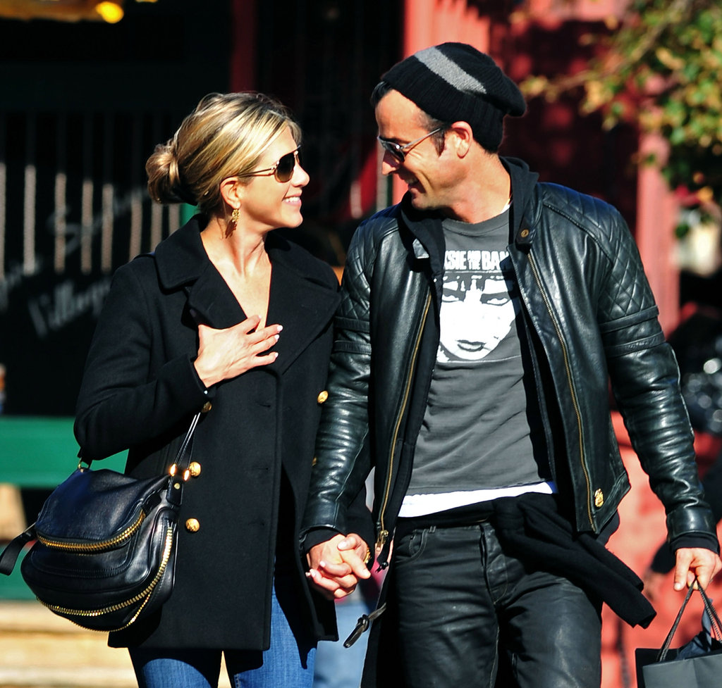 Jennifer and Justin were beaming while out running errands around NYC in September 2011.