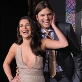 Lea Michele and Ashton Kutcher Flirt at New Year's Eve LA Premiere