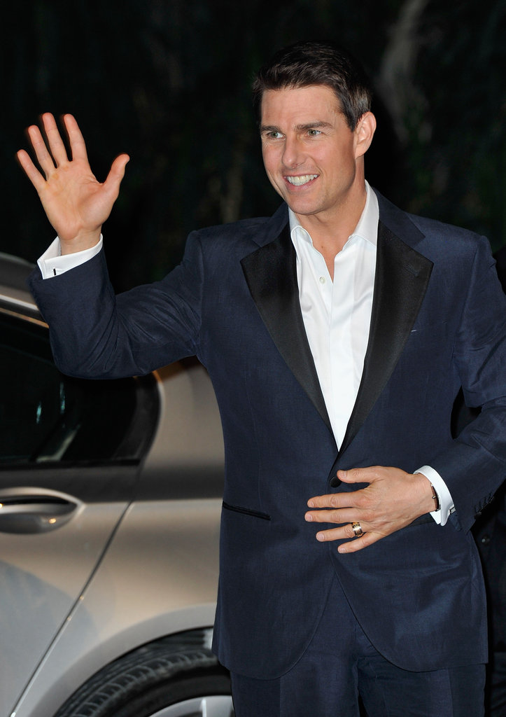 Tom Cruise arrived at the premiere of Mission: Impossible – Ghost Protocol in Dubai.