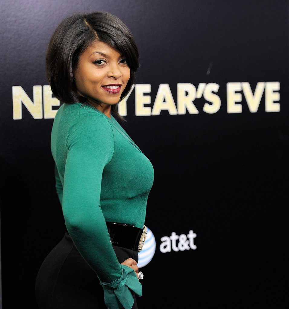 Taraji P. Henson looked stunning in an emerald shade.