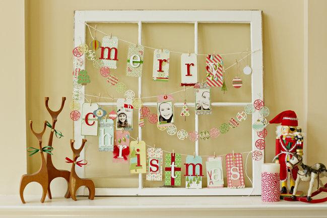 Christmas Window Tag Display