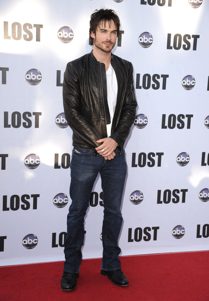 Ian Somerhalder walked the red carpet prior to LA's Lost finale celebration in May 2010.