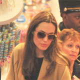 Angelina Jolie and Brad Pitt Christmas Shopping With the Kids in NYC