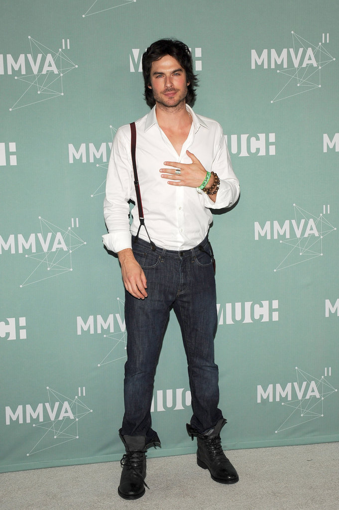 Ian Somerhalder posed for photos in the press room at the June 2011's MuchMusic Video Awards in Toronto.