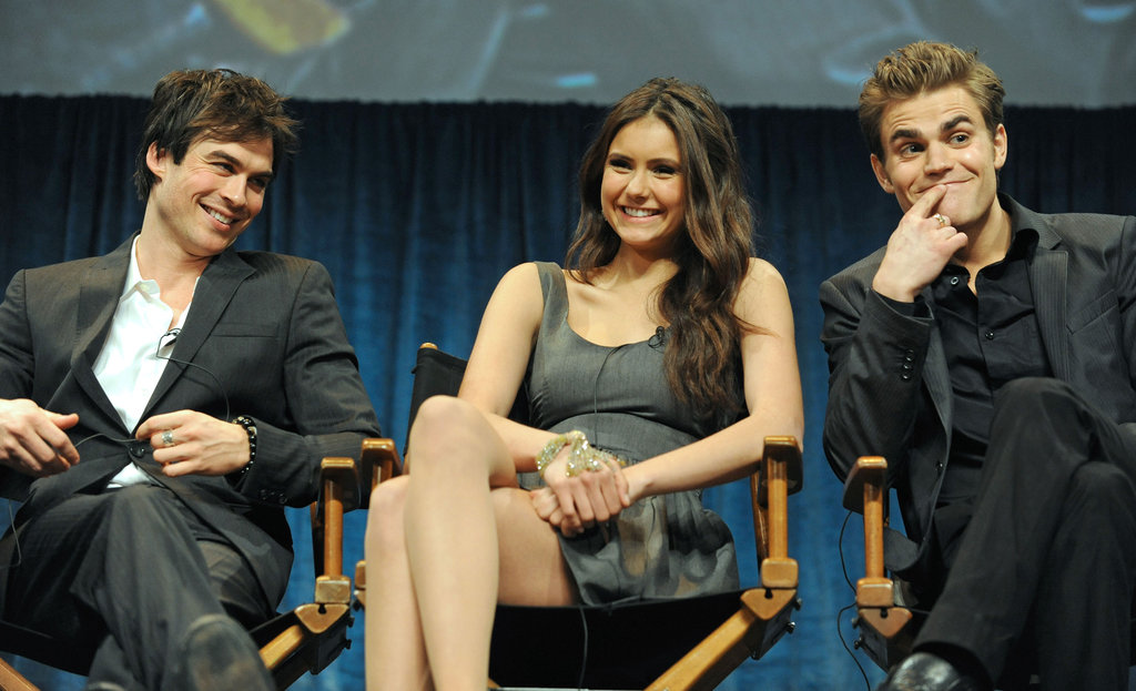 Vampire Diaries stars Ian Somerhalder, Nina Dobrev, and Paul Wesley were invited to speak on a panel during a March 2010 PaleyFest event.