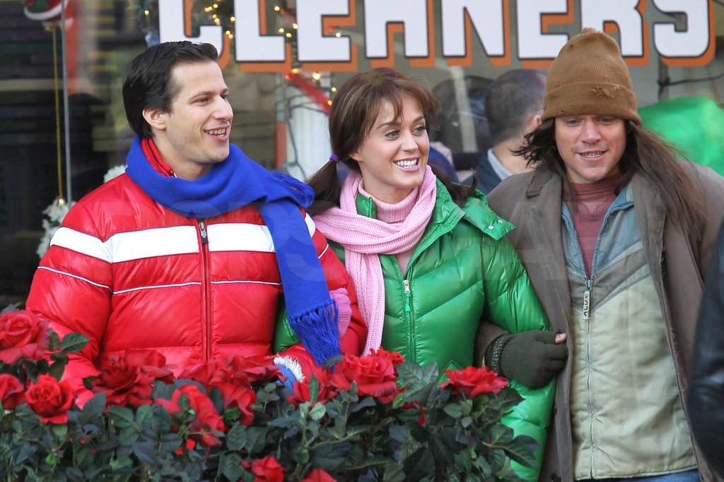 Matt Damon, Katy Perry, and Andy Samberg stood close for their scenes.