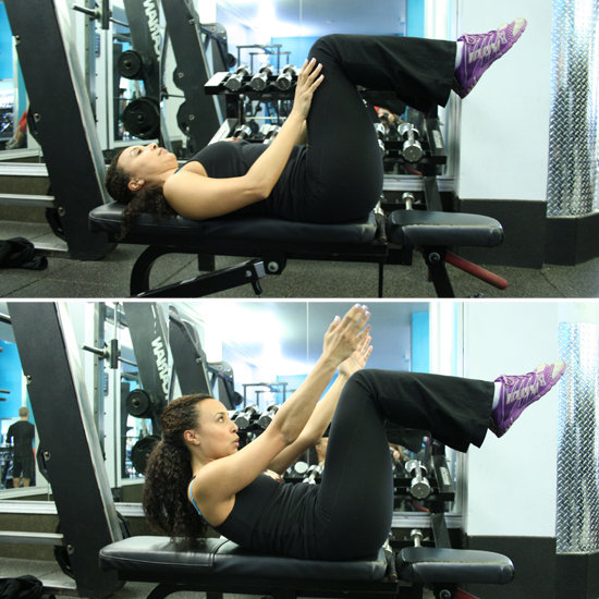 Ab workout using bench