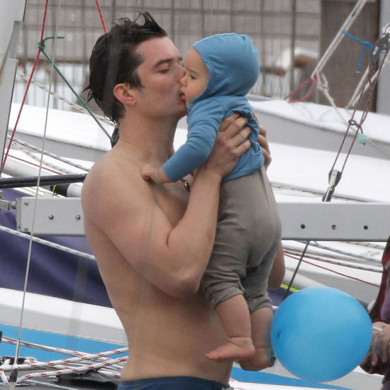Shirtless Orlando Bloom With Flynn Pictures in New Zealand