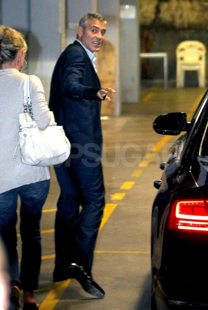 George Clooney arrived in Sydney.