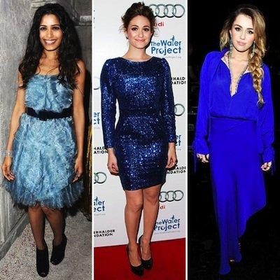 Celebrities Wearing Blue Dresses 2011