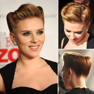 Scarlett Johansson's We Bought a Zoo Red Carpet Beauty Look