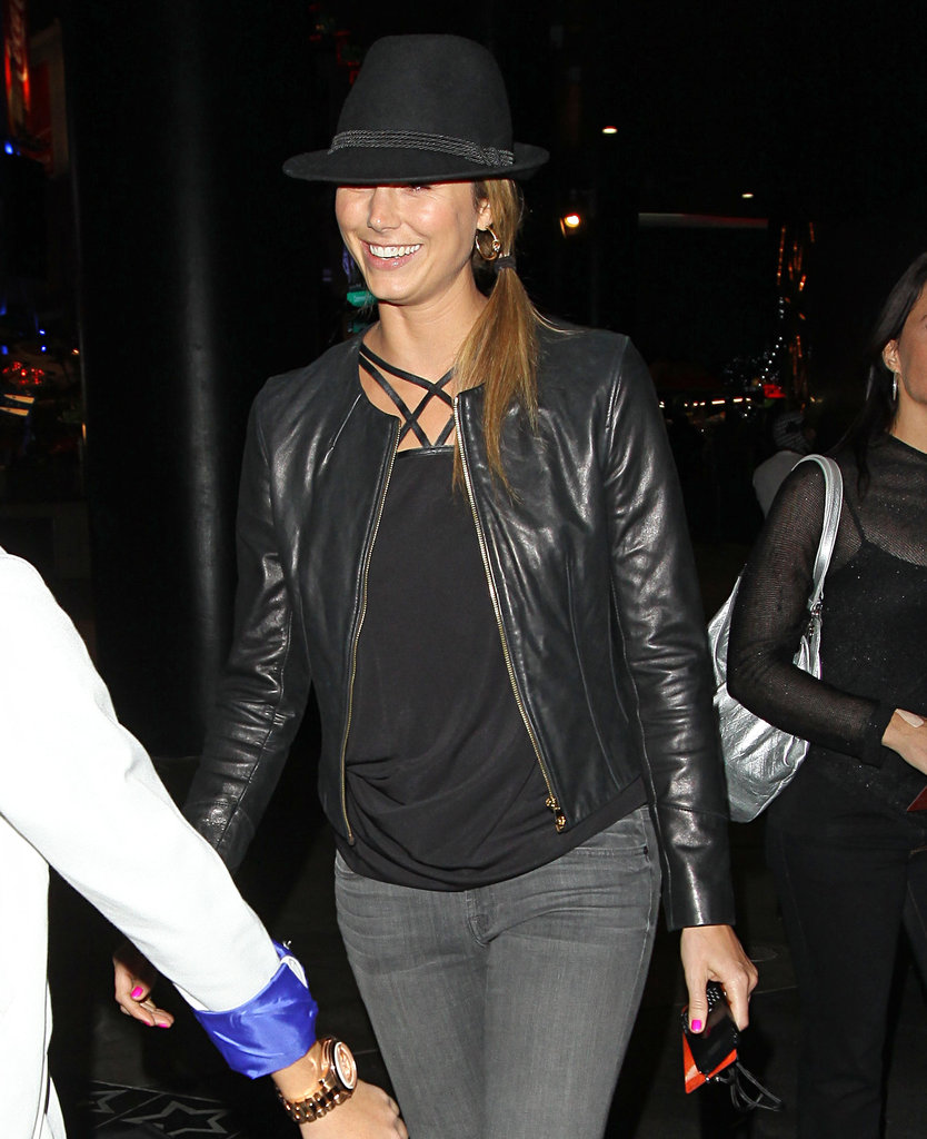 Stacy Keibler at the Jay-Z and Kanye West concert in LA.