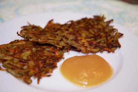 Healthy Carrot Rosemary Potato Latke Recipe