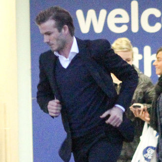 David Beckham Christmas Eve Pictures in London