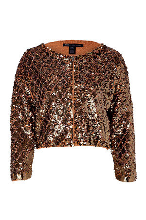This sparkly jacket could transform even the most basic of looks.  Marc by Marc Jacobs Camel Cropped Sequin Jacket ($530)