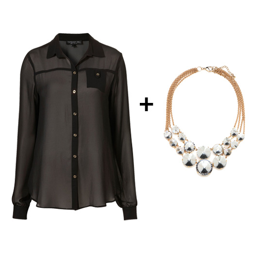 Silk Blouses + Statement Necklaces