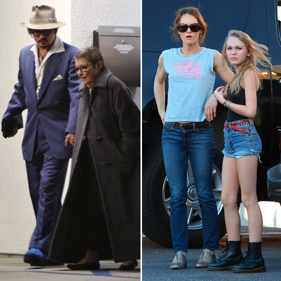 Johnny Depp and Vanessa Paradis Ring In 2012 Close to Home With the Kids