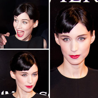 Rooney Mara's The Girl With The Dragon Tattoo Paris Premiere Hair and Makeup