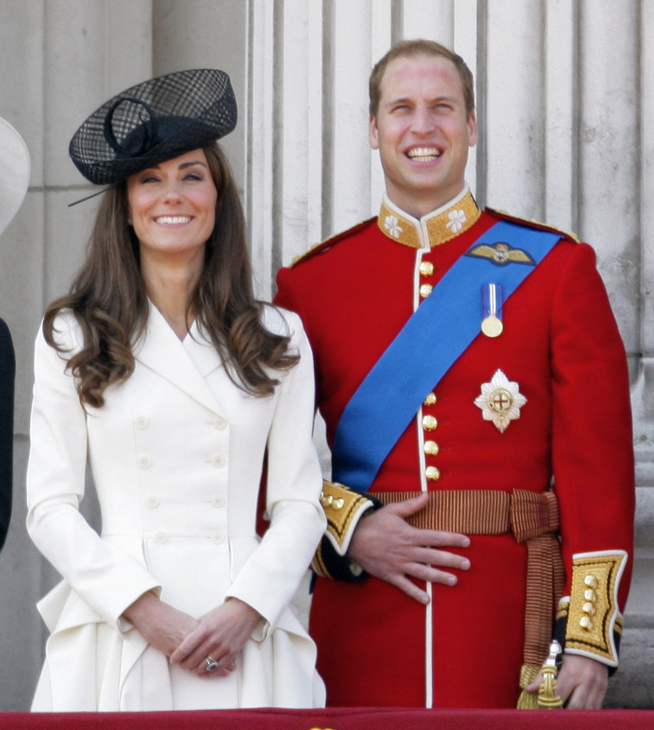 Kate Middleton and Prince William stood at attention during London's Trooping the Colour Parade in June 2011.