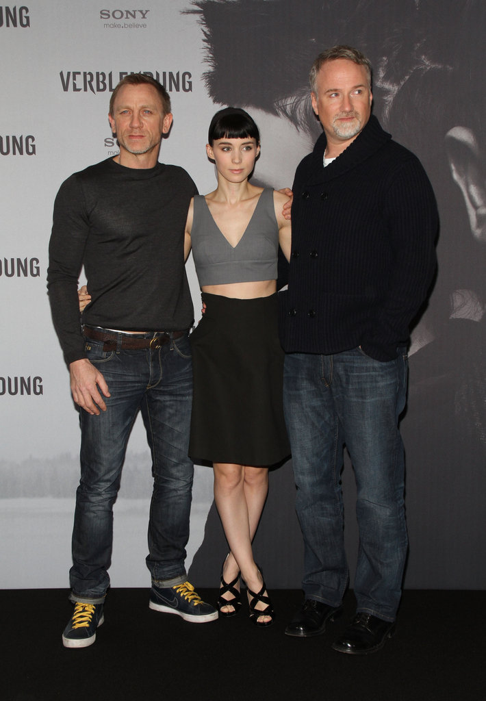 Daniel Craig, Rooney Mara, and David Fincher brought The Girl With the Dragon Tattoo to Germany.