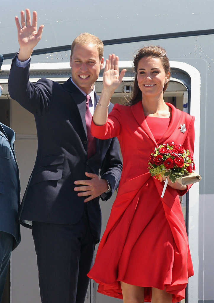 Kate Middleton and Prince William waved to fans leaving Calgary in July 2011.