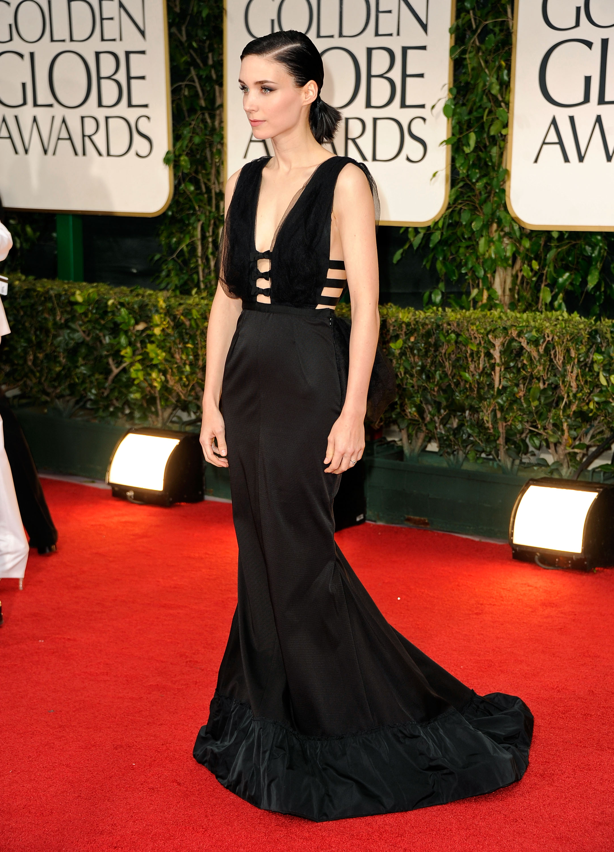 Rooney Mara in Nina Ricci at the Golden Globes.