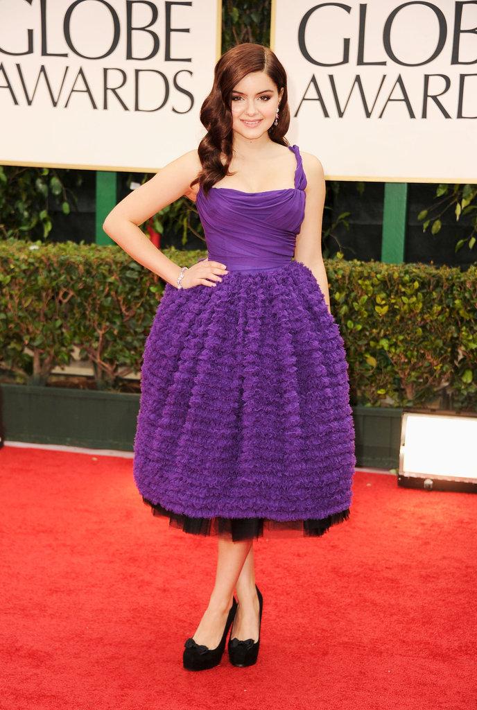 Ariel Winter at the Golden Globes.