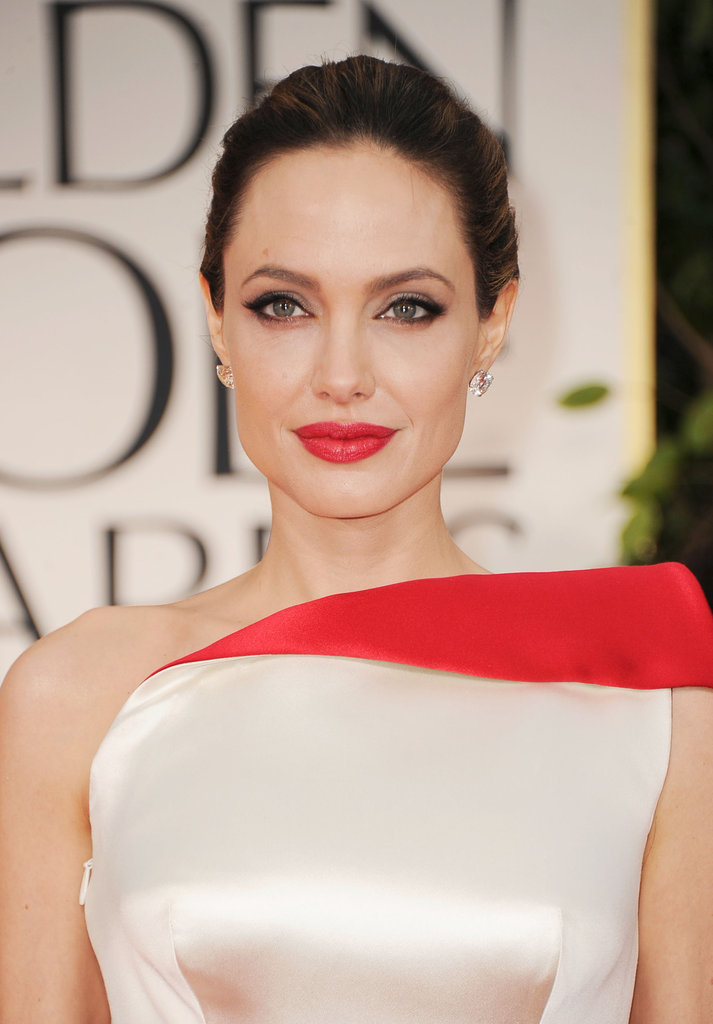 Angelina Jolie got gorgeous for the 2012 Golden Globe Awards.