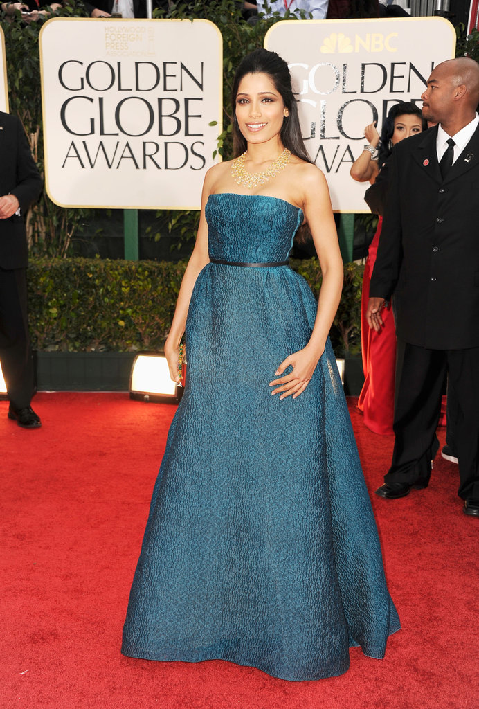Frieda Pinto at the Golden Globes.