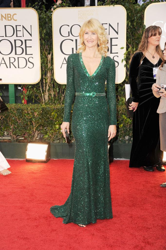 Laura Dern at the Golden Globes.