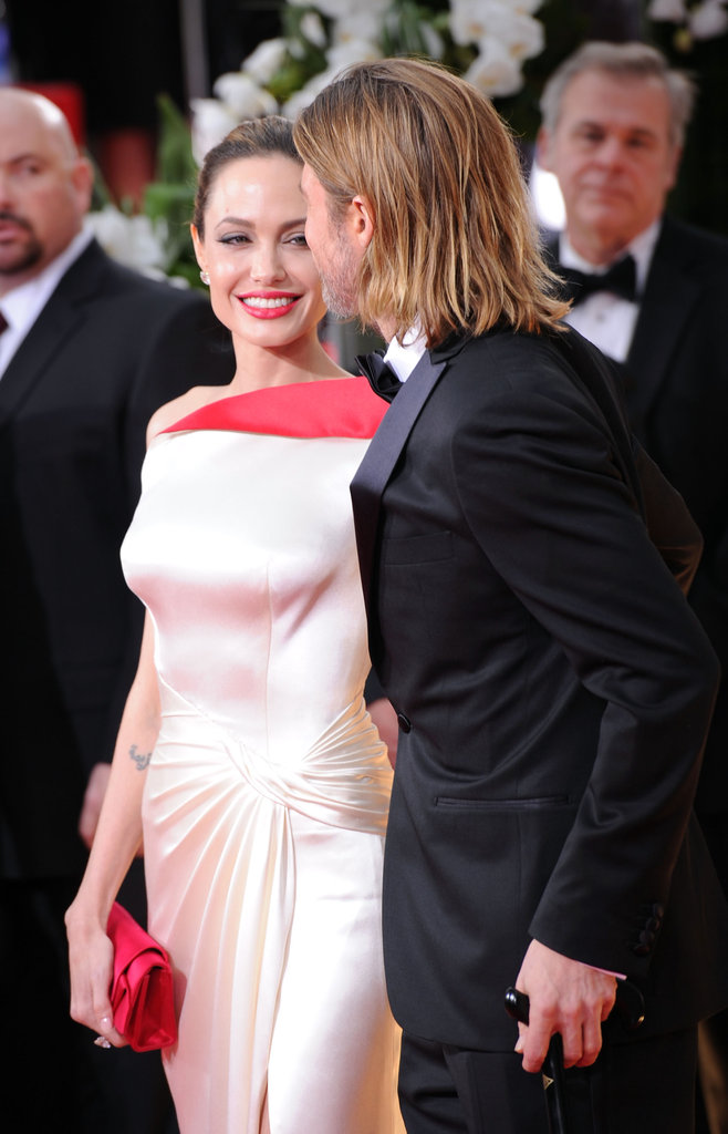 Brad Pitt and Angelina Jolie had a laugh at the Golden Globes.