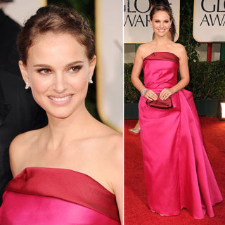 Natalie Portman Wears a Hot Pink Strapless Lanvin Gown to the 2012 Golden Globes