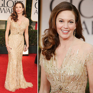Diane Lane Channels Old School Hollywood Glamour in Reem Acra at the 2012 Golden Globes