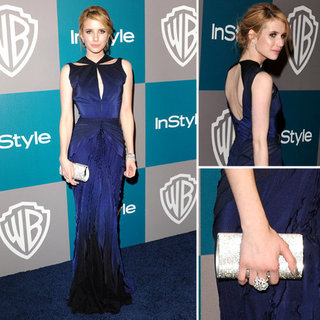 Emma Roberts Joins The Zac Posen Brigade For the 2012 Golden Globes After Party