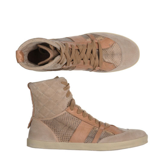 Python and Leather Trainers