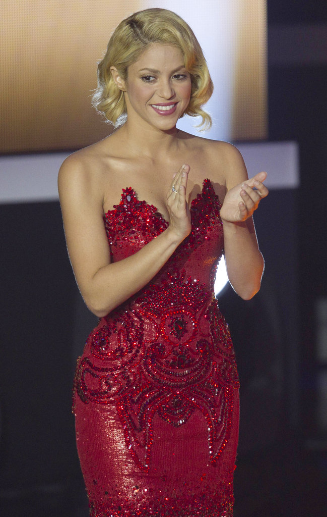 Shakira congratulated all the honorees on the evening.